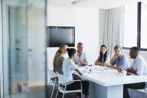 Shot of a creative team in a meeting
