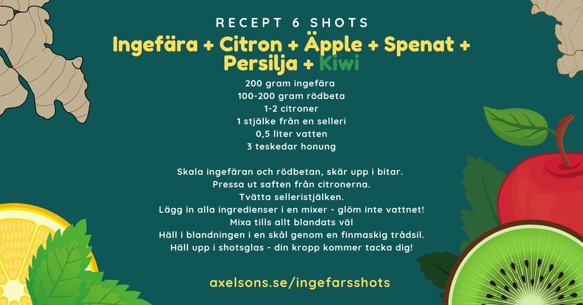 citron och ingefära shots