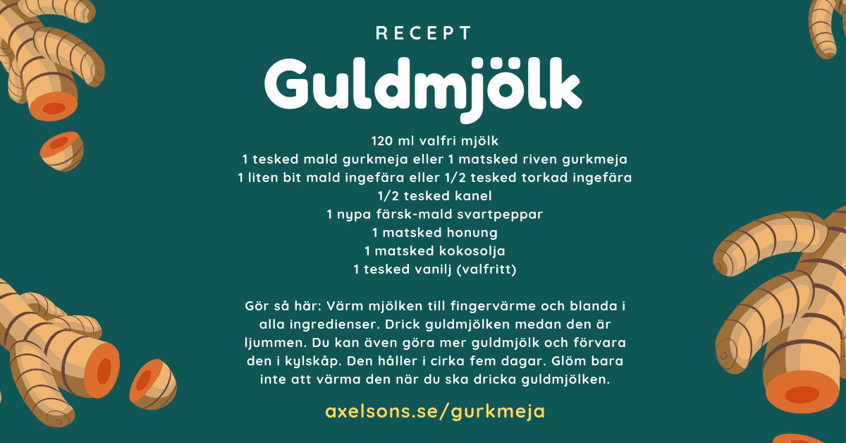 Guldmjölk recept. Gör din egna guldmjölk