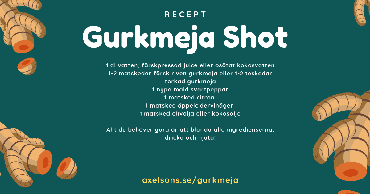 Axelsons Gurkmeja shot Recept