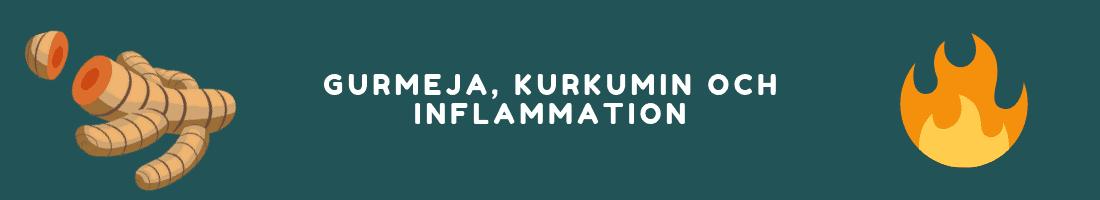Gurmeja, kurkumin och inflammation