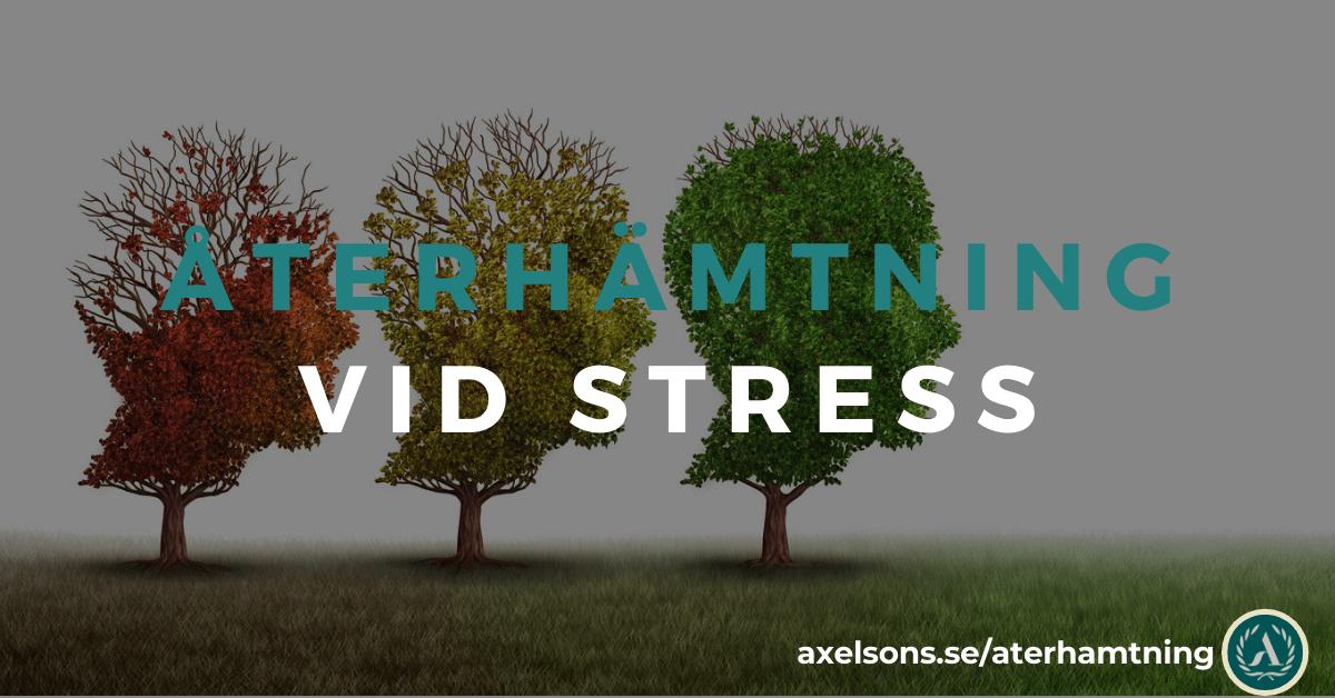 Återhämtning vid stress