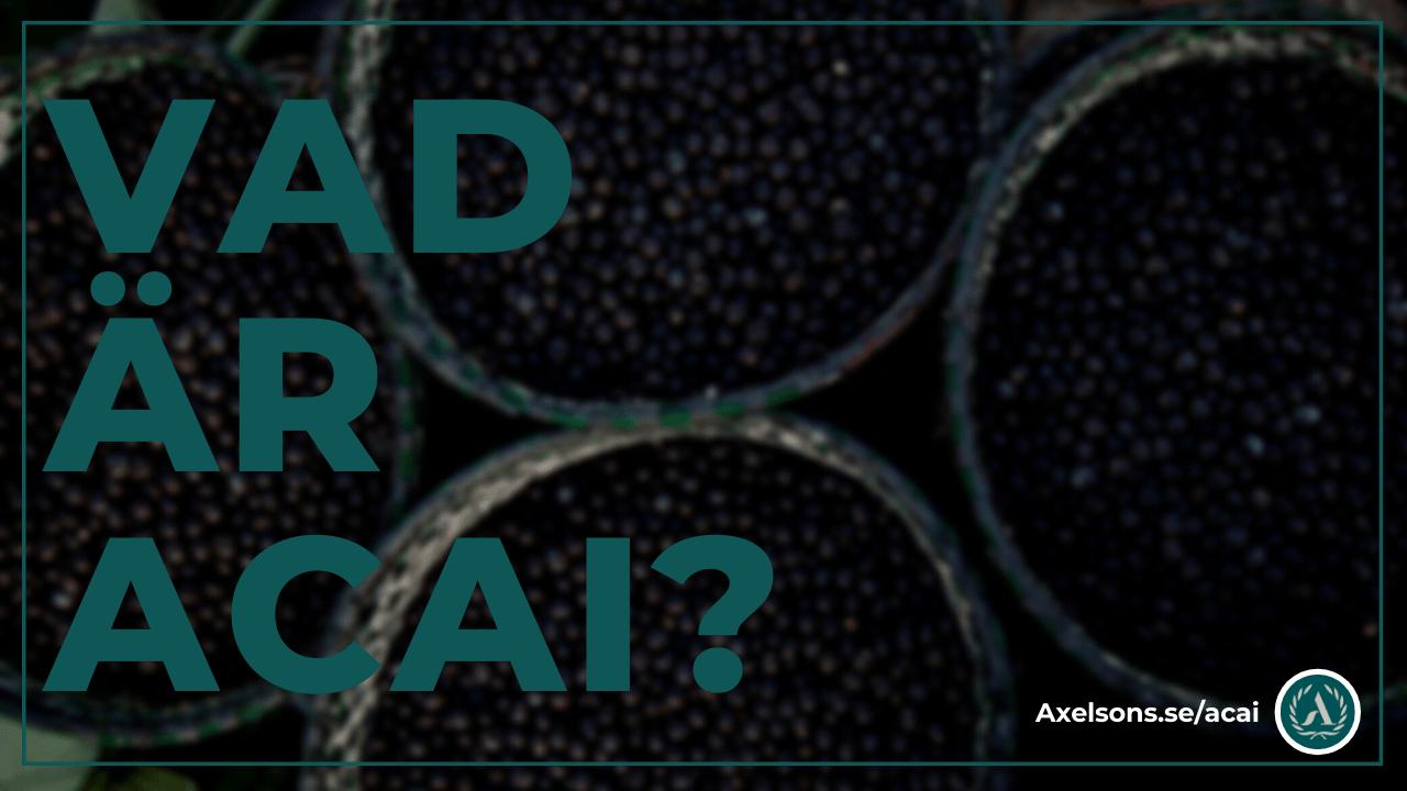 Vad är acai