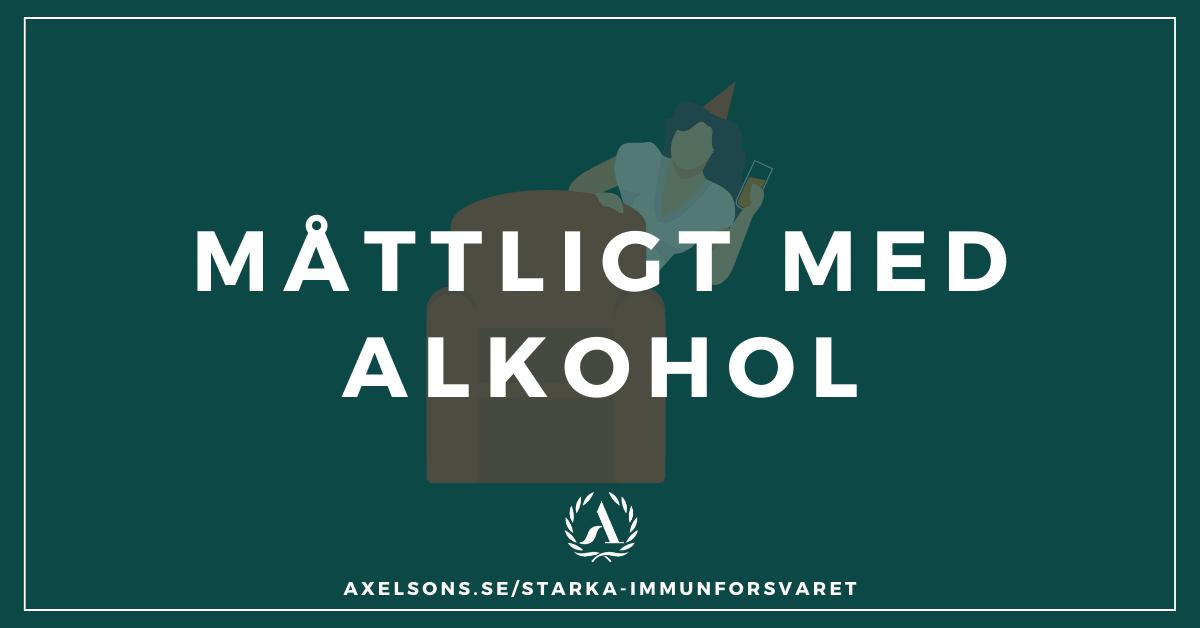 Måttligt med alkohol