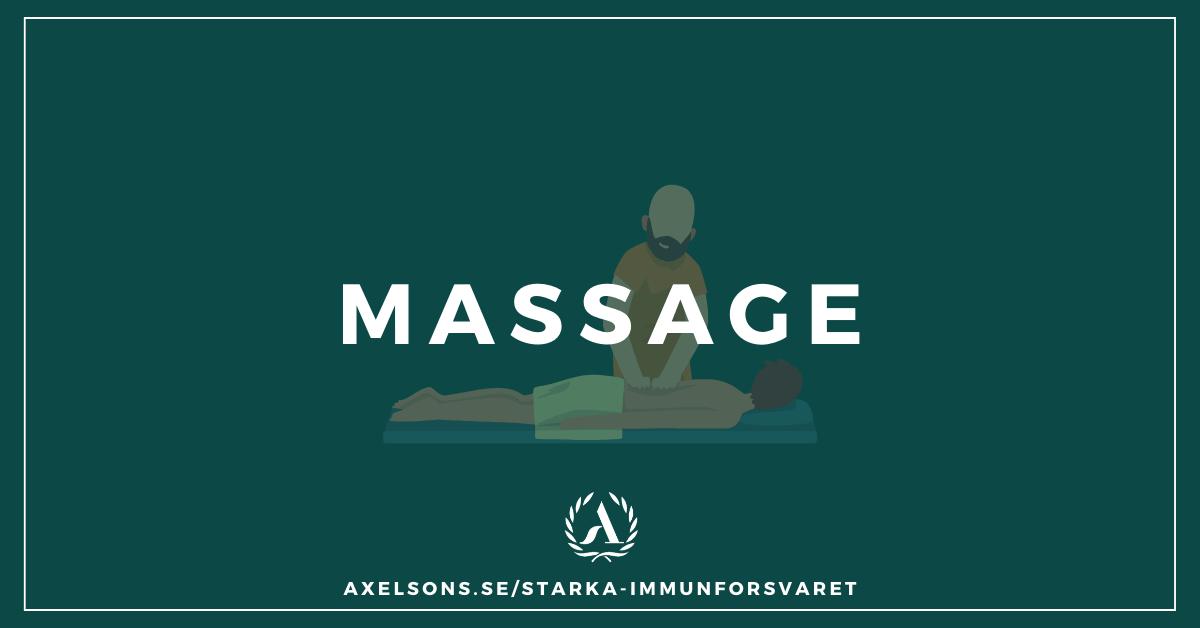 Stärka immunförsvaret-med massage