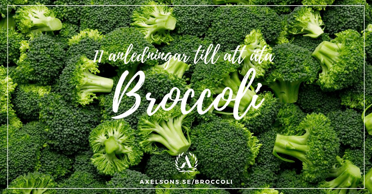 11 anledningar till att äta broccoli