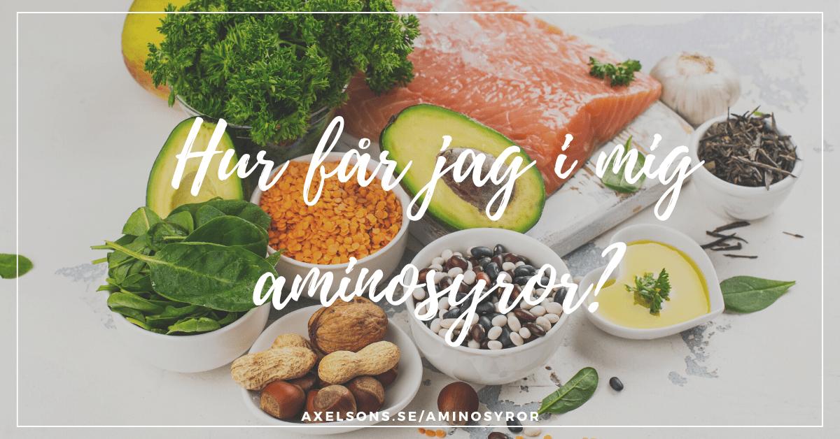 Aminosyror hur får jag i mig aminosyror naturligt